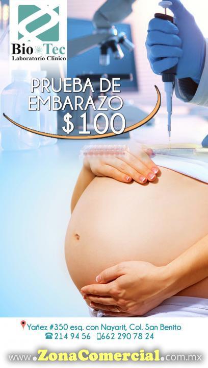 Prueba de Embarazo en Laboratorio Clínico Bio-Tec
