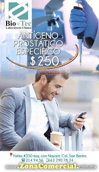 Examen Antígeno Prostático Específico en Laboratorio Clínico Bio-Tec