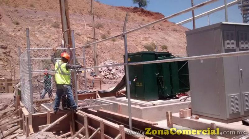 CERCADO DE TRANSFORMADOR, EN MINERA DEL COBRE EN CANANEA SONORA...