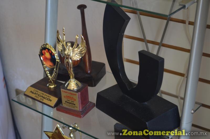 Contamos con todo tipo de Trofeos, medallas y Reconocimientos.Placas en cristal grabado, Reconocimientos ejecutivos y promocionales. Trofeos e impresion fotográfica a color en platos y tazas. Reconocimiento en madera y medallas. Sublimados y personalizadores.