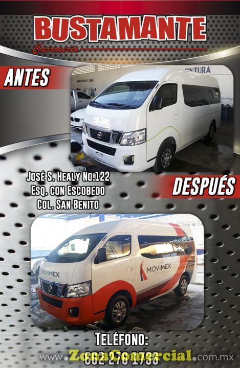 Servicio de Pintado Automotriz en Carrocería Bustamante.