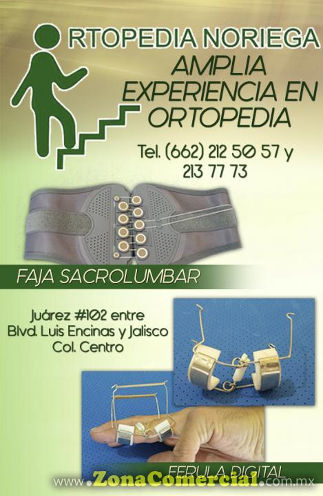 Faja Sacrolumbar y Ferula Digital en Ortopedia Noriega