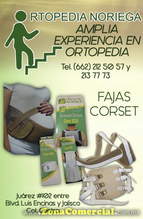 Fajas y Corset en Ortopedia Noriega