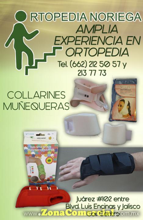 Collarines y muñequeras en Ortopedia Noriega