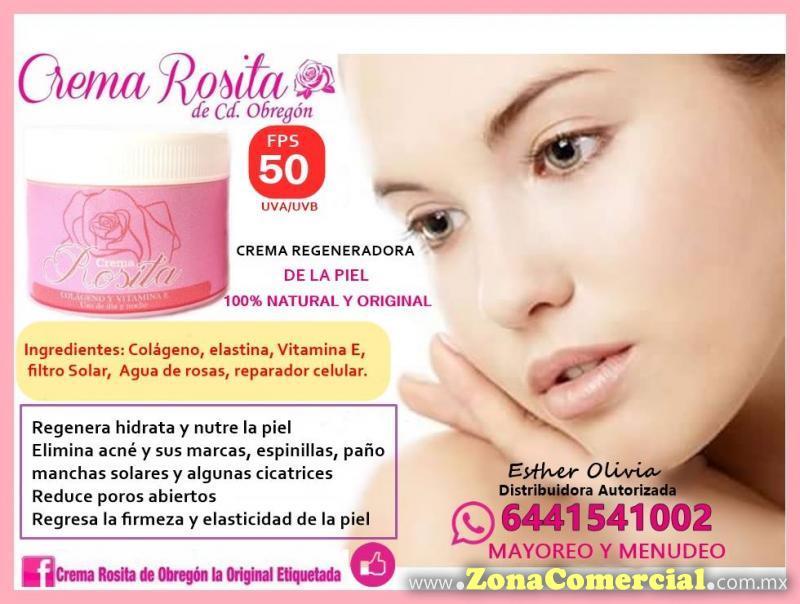 Crema Rosita de Obregon La Original