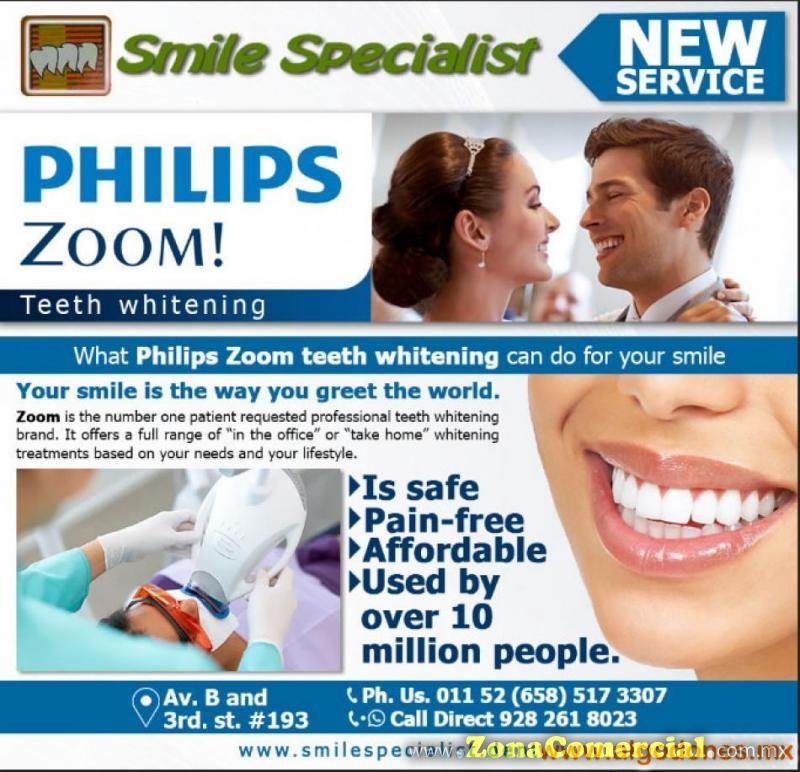 NEW SERVICE FOR YOU!! PHILIPS ZOOM TEETH WHITENING