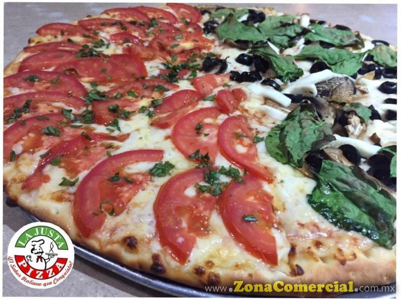 PIZZA MITAD VEGY Y MARGARITA - LA JUSTA PIZZA