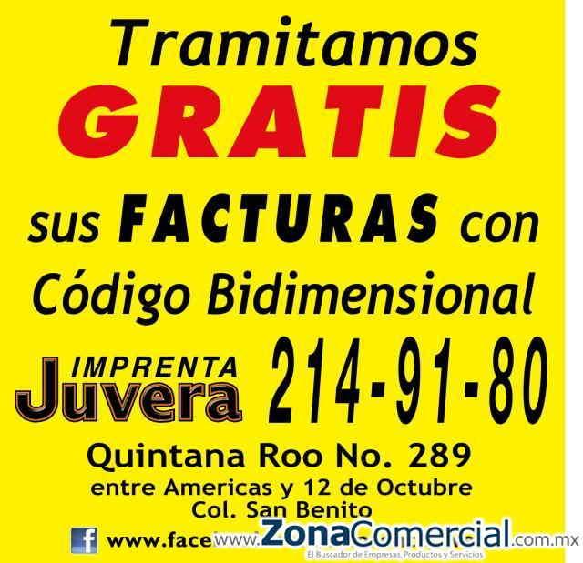 TRAMITAMOS GRATIS EL CODIGO DE BARRA BIDIMENSIONAL PARA TUS FACTURAS
