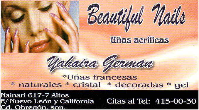 Beautiful Nails-Uñas Francesas, naturales, cristal, decorados, gel