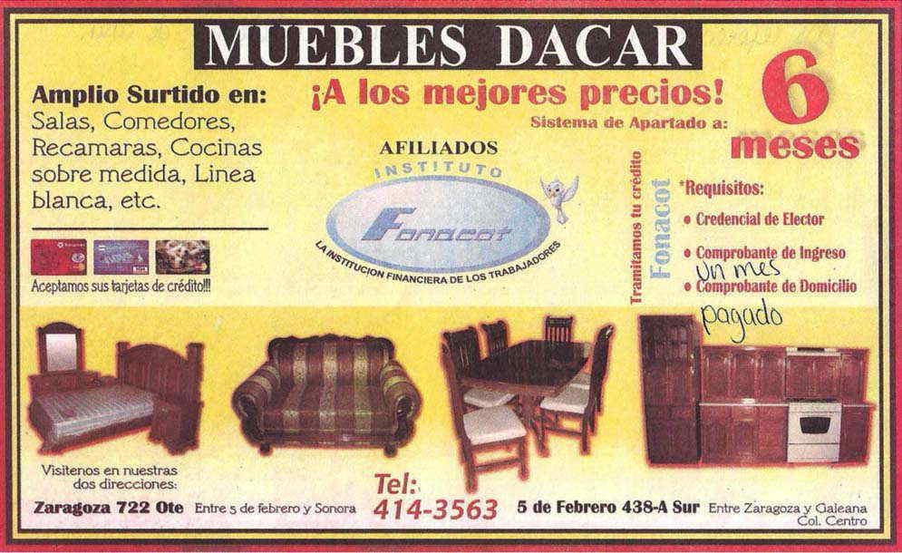 Muebles decar en ciudad obreg n anunciado por for Comedores pequea os precios
