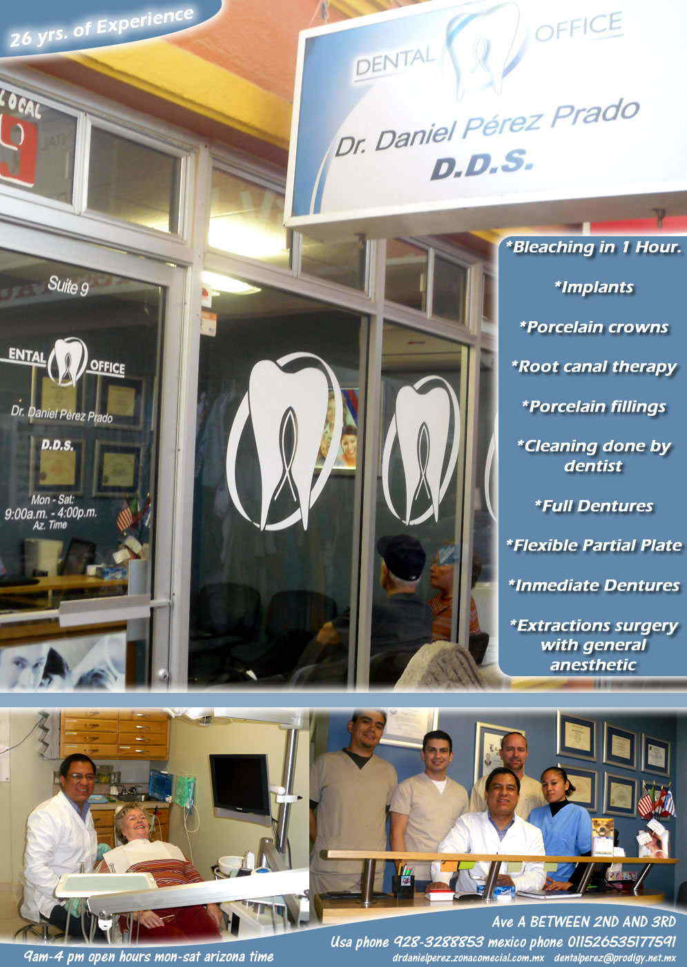 Dr. Daniel  Perez  Prado in Algodones  in Algodones  dentists dentists implants porcelain dentista perez prado daniel