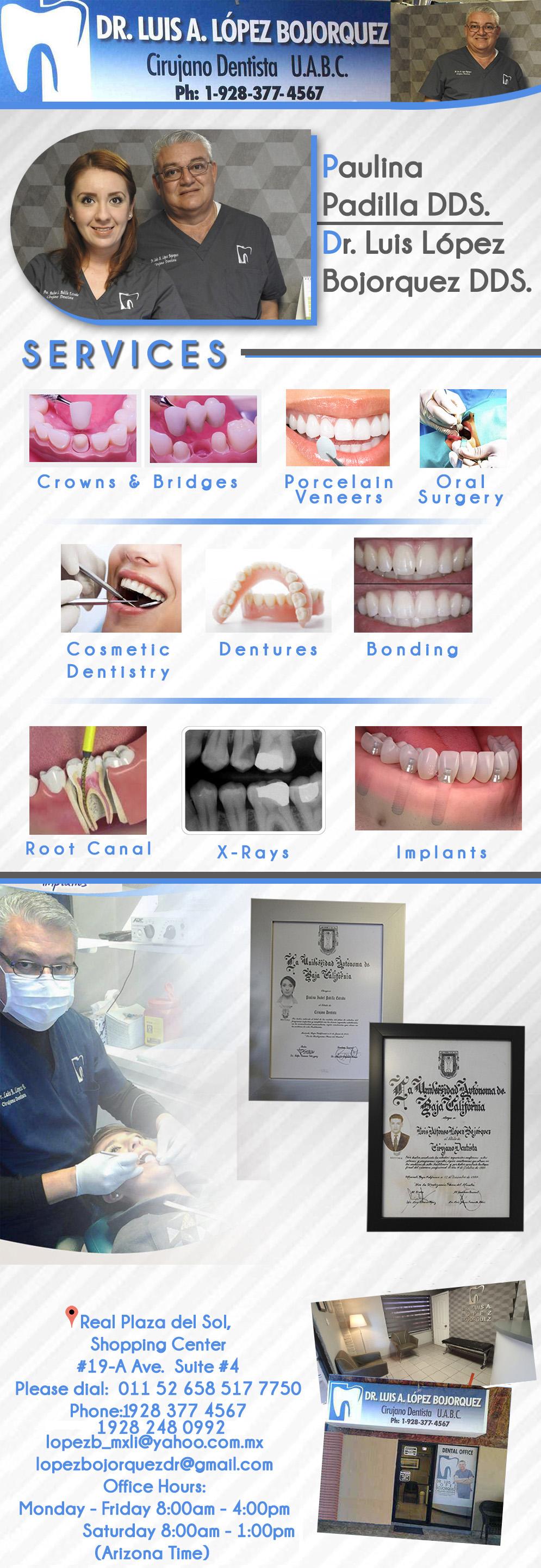 DR. LUIS A. LOPEZ BOJORQUEZ in Algodones  in Algodones  CIRUJANO DENTISTA UABC           dr luis lopez bojorquez cirujano dentista uabc dentist algodones drs doctores medicina cosmetic dentistry crowns