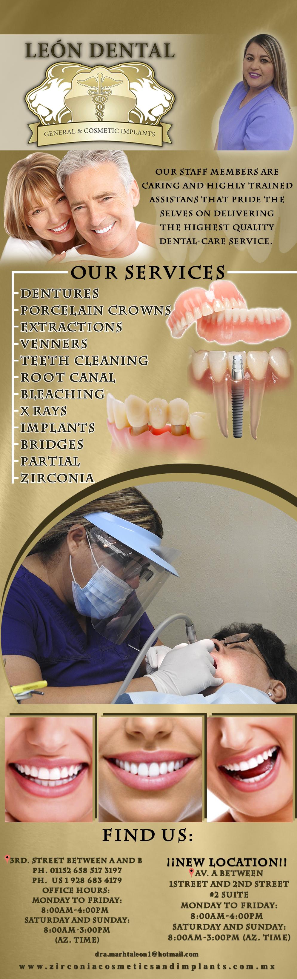 Leon Dental Martha Leon DDS in Algodones  in Algodones  LEON DENTAL All insurance Welcome...      leon dental clinic clinica dr dentis dentista martha alicia algodones