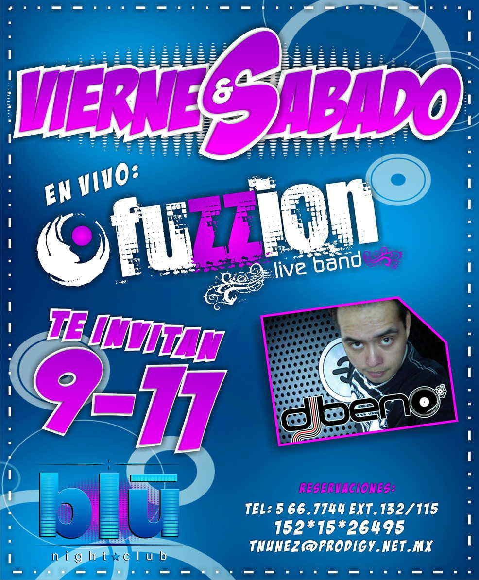 blu night club-Viernes y Sabado Fuzzion live band