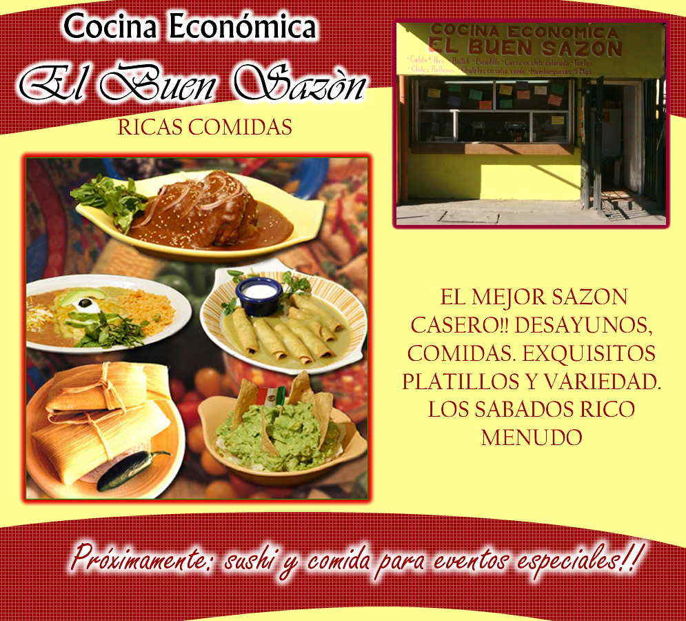 Cocina economica el buen sazon en mexicali anunciado por for Cocina casera facil y economica