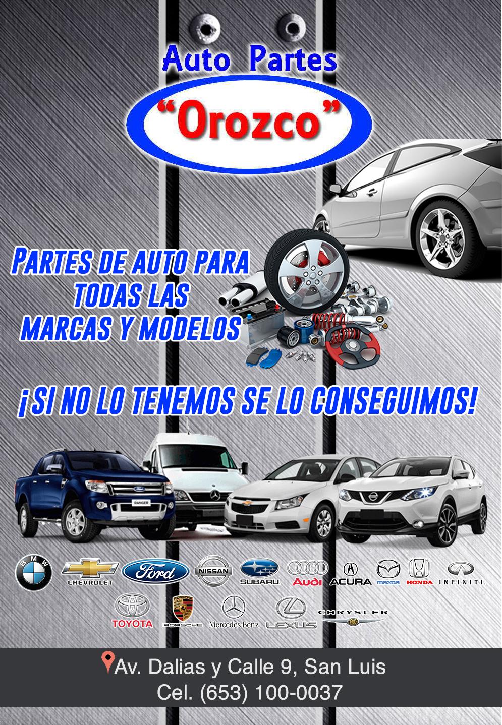Auto Partes Orozco-Partes Usadas para autos todas las marcas y modelos