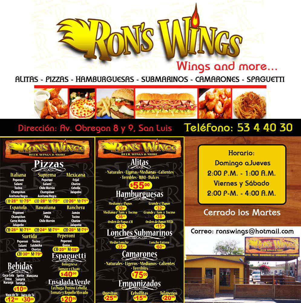 Rons Wings -Wings and more...