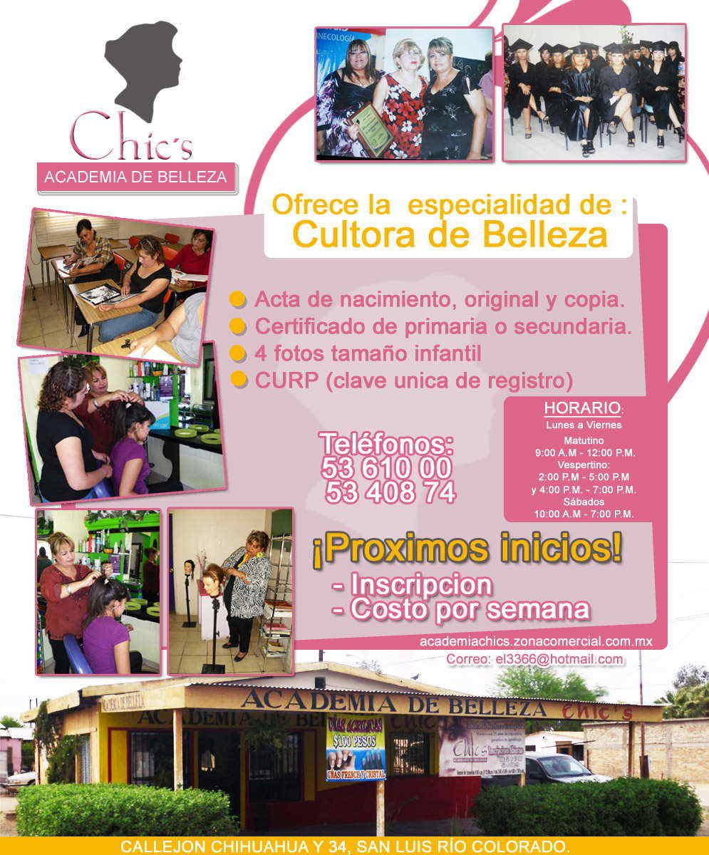 ACADEMIA CHICS en San Luis Rio Colorado anunciado por ZonaComercial ...