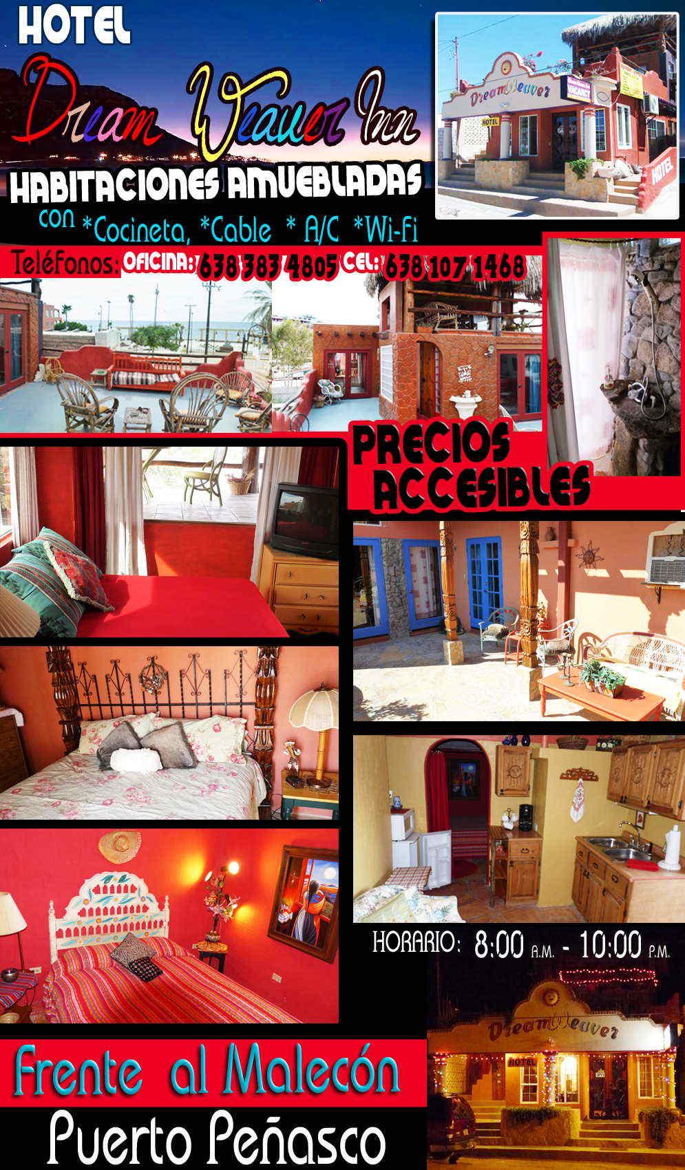 Dream weaver inn in puerto pe asco los algodones mexico for Habitaciones hoteles