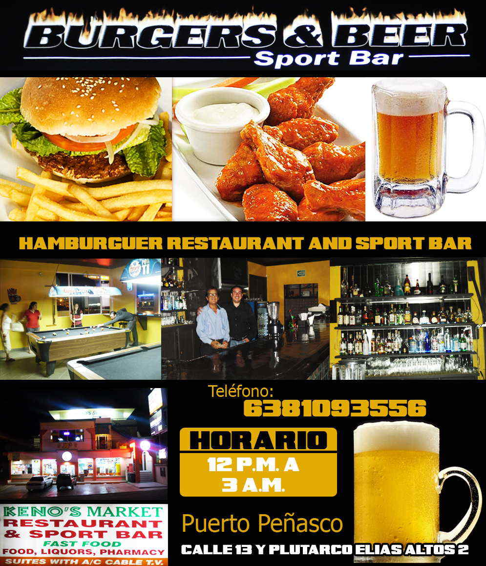Burgers and Beer-hamburguesa restaurant bar sport bar