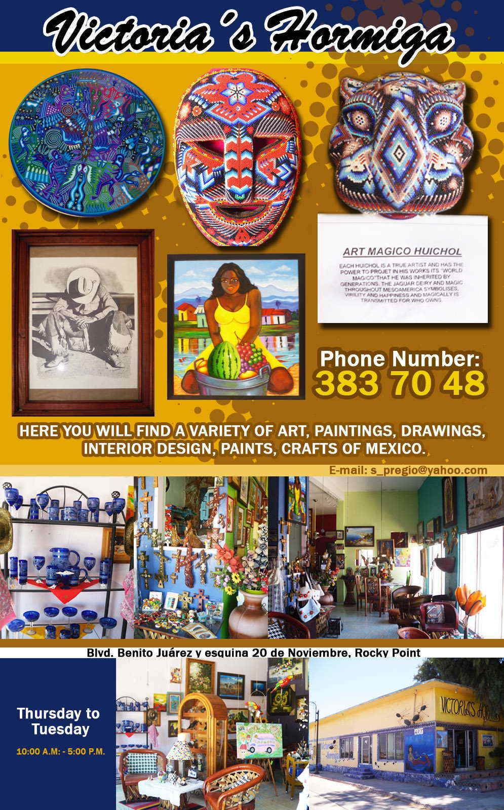 Victorias Hormiga-HERE YOU WILL FIND A VARIETY OF ART, PAINTINGS, DRAWINGS, INTERIOR DESIGN, PAINTS, CRAFTS OF MEXICO.
