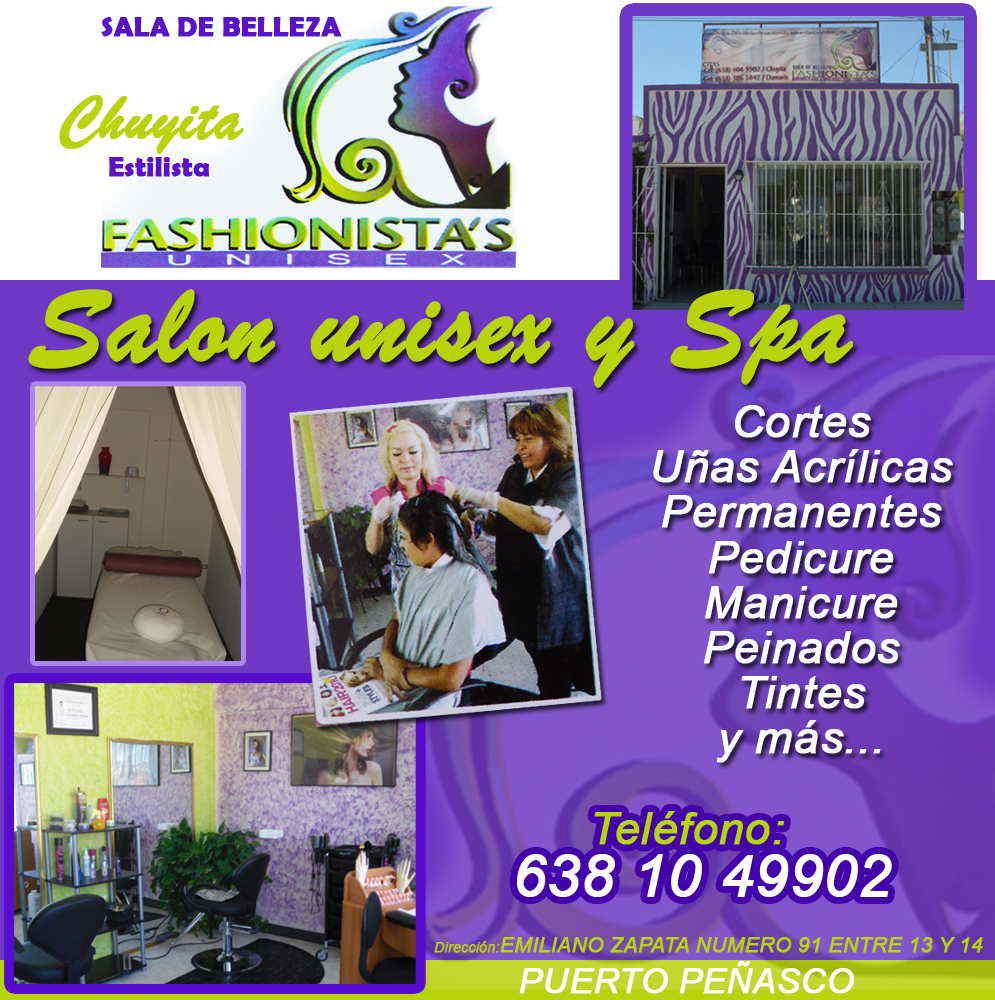 FASHIONISTAS UNISEX-salon unisex y spa.