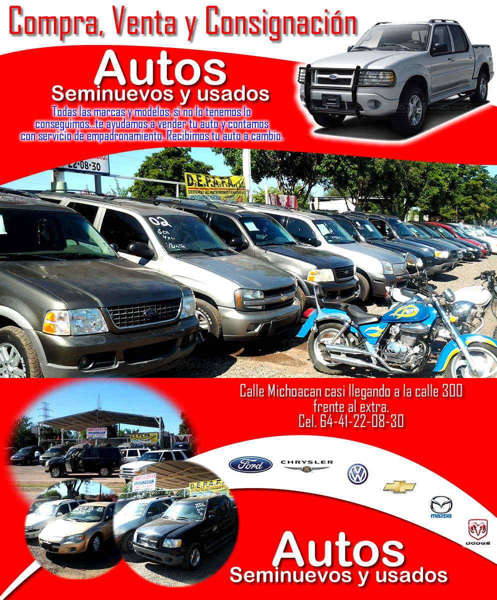 Autos Compra, Venta y consignación en Ciudad Obregón