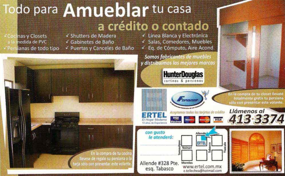 Ertel muebleria en ciudad obreg n anunciado por for Amueblar casa completa