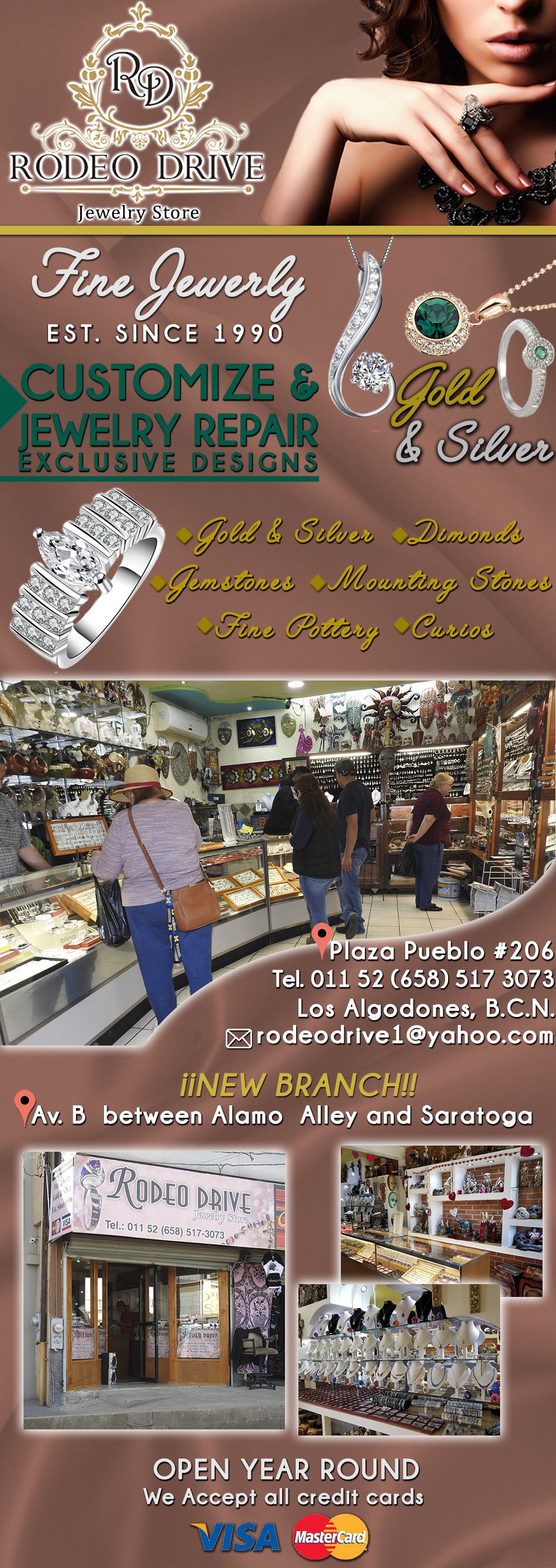 RODEO DRIVE  in Algodones  in Algodones  Jewelry Store   Fine Jewelry Gold & Silver Est. Since 1990