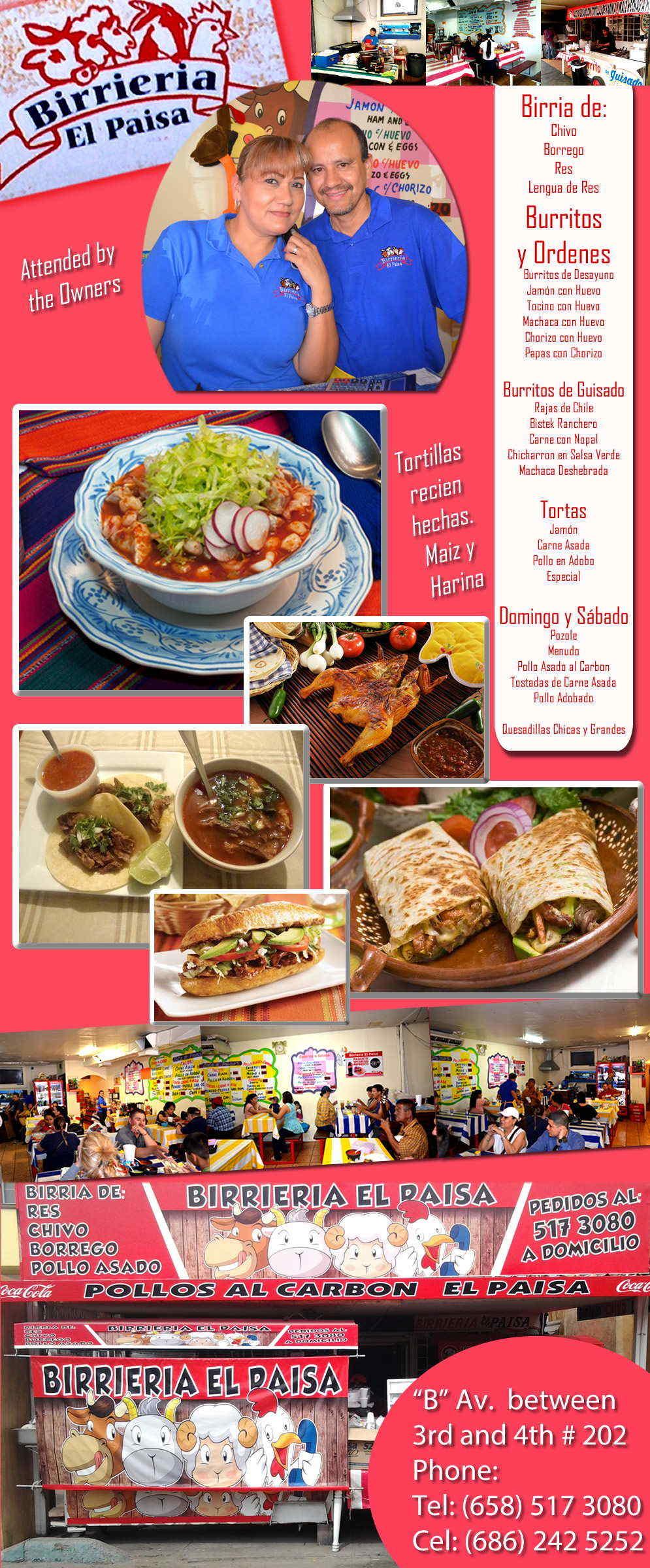 Birrieria El Paisa in Algodones  in Algodones  Restaurant     Restaurant birrieria comidas pollo tacos quesadillas burritos guisados paisa desayunos tortas tostadas