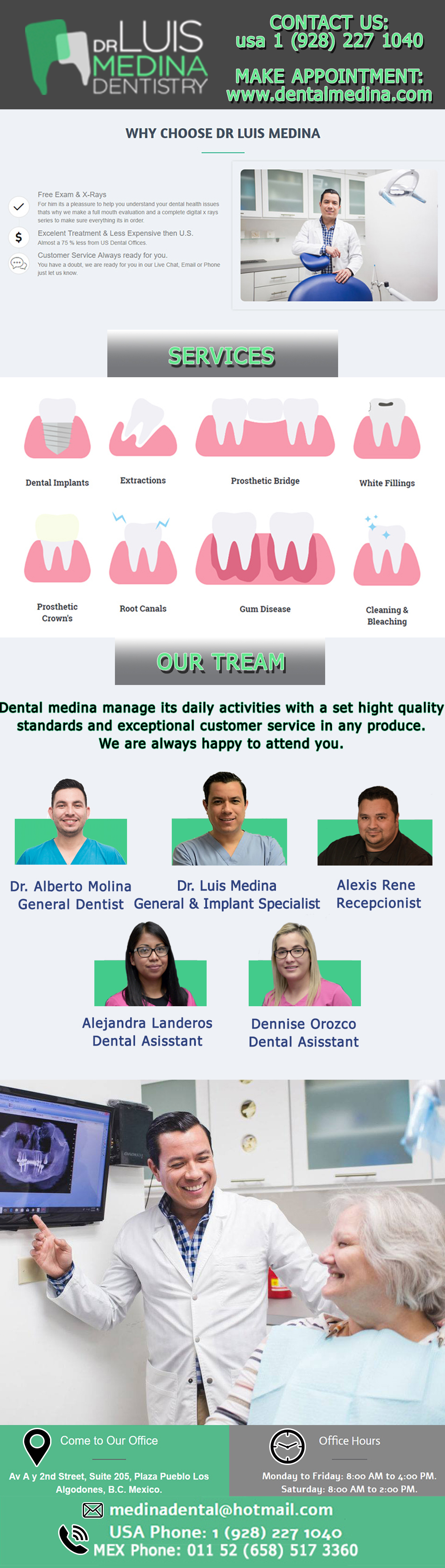 Dental Office DR. LUIS MEDINA in Algodones  in Algodones  Cosmetic Dentistry