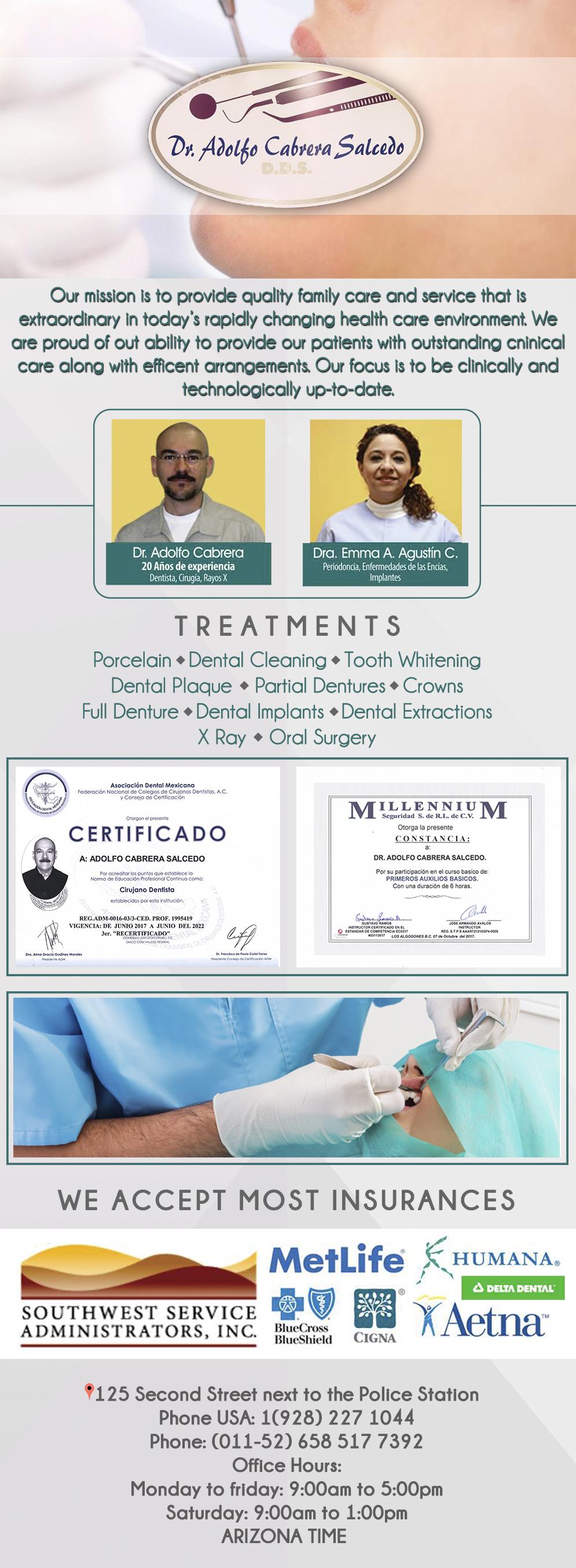 Dental Cabrera in Algodones  in Algodones  Periodontics and Implants Periodontics and Implants