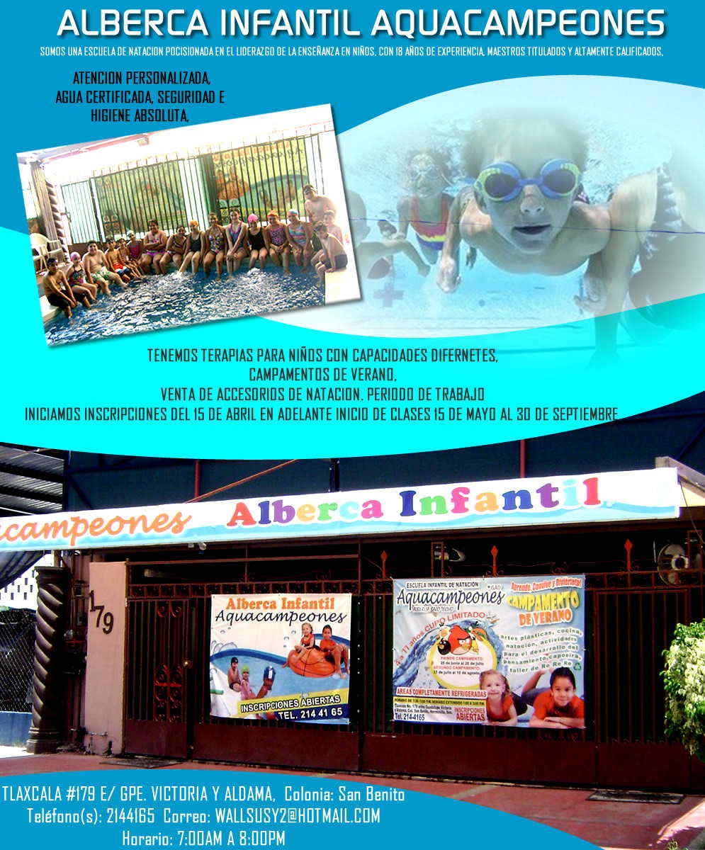 Alberca infantil aquacampeones en hermosillo anunciado por for Albercas portatiles en hermosillo