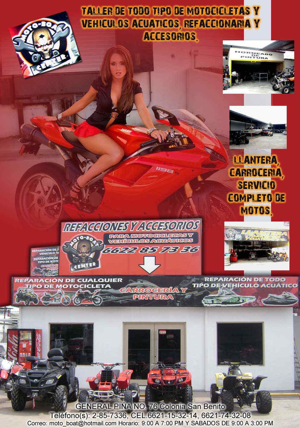 Moto boat center en hermosillo anunciado por zonacomercial for Refaccionarias en hermosillo
