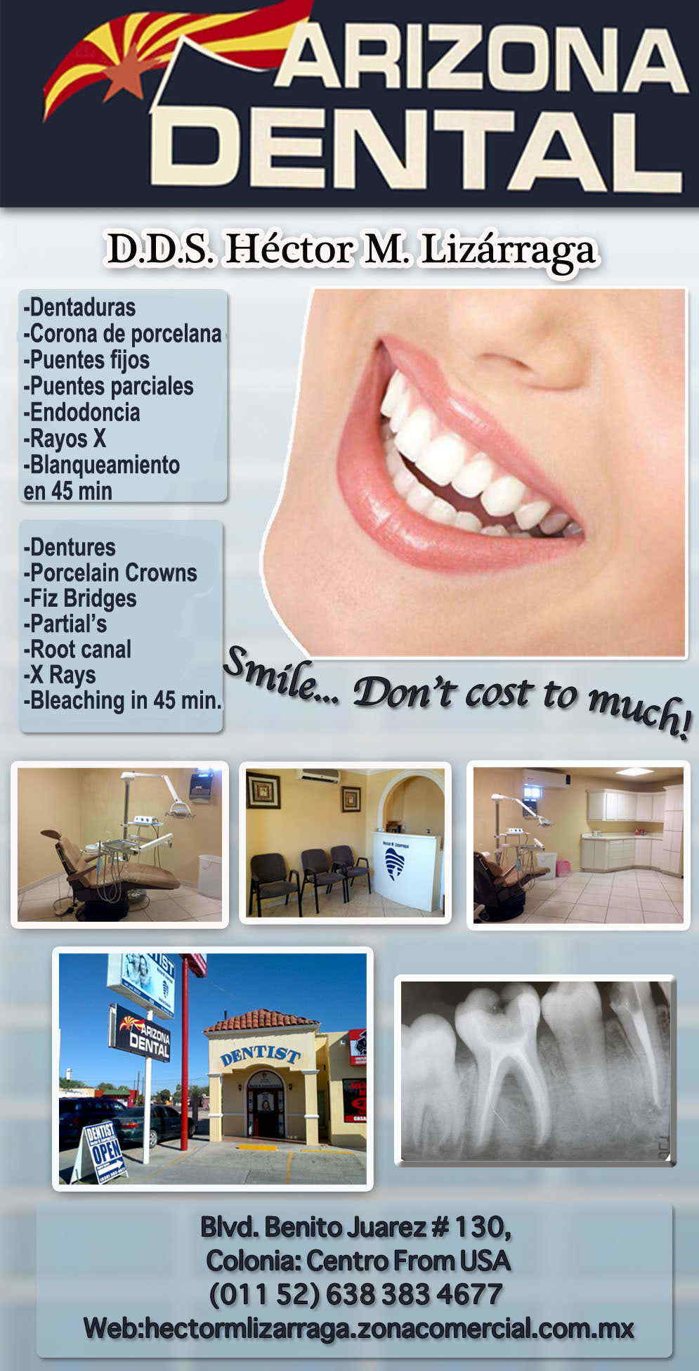 Arizona Dental DDS. Hector M. Lizarraga-Odontologia Familiar