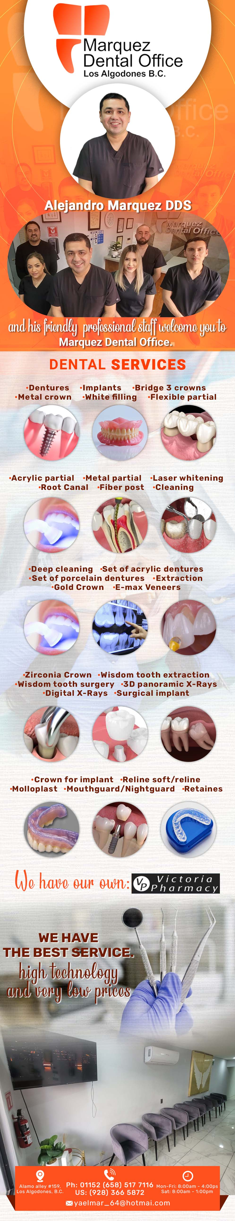 Marquez Dental Office - DDS Alejandro Márquez in Algodones  in Algodones  COMMITED TOTAL QUALITY IN DENTAL SERVICE     Bridges