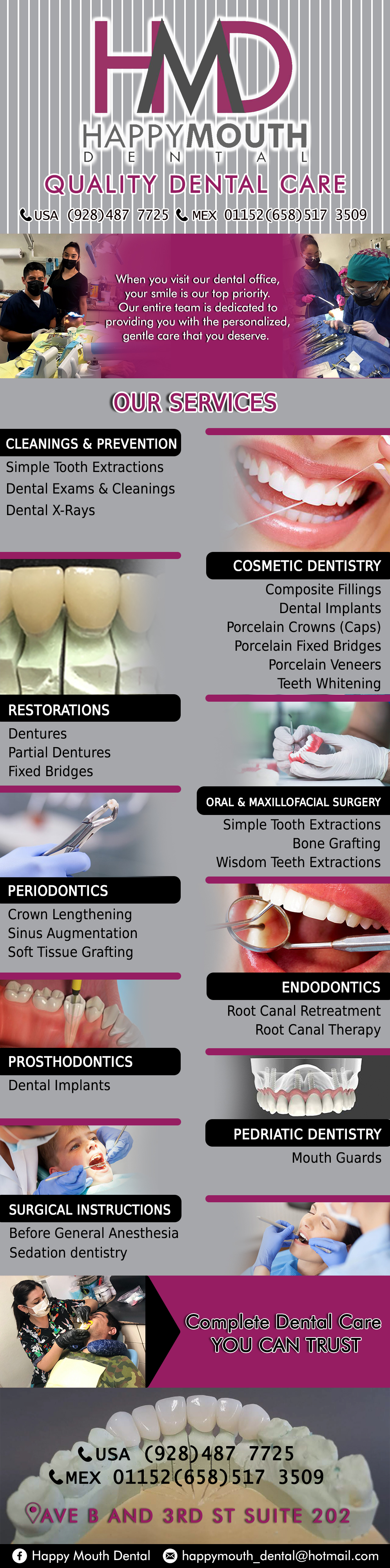 Happy Mouth Dental in Algodones  in Algodones  THE CARE YOUR MOUTH DESERVES  dentist  implants general dentistry