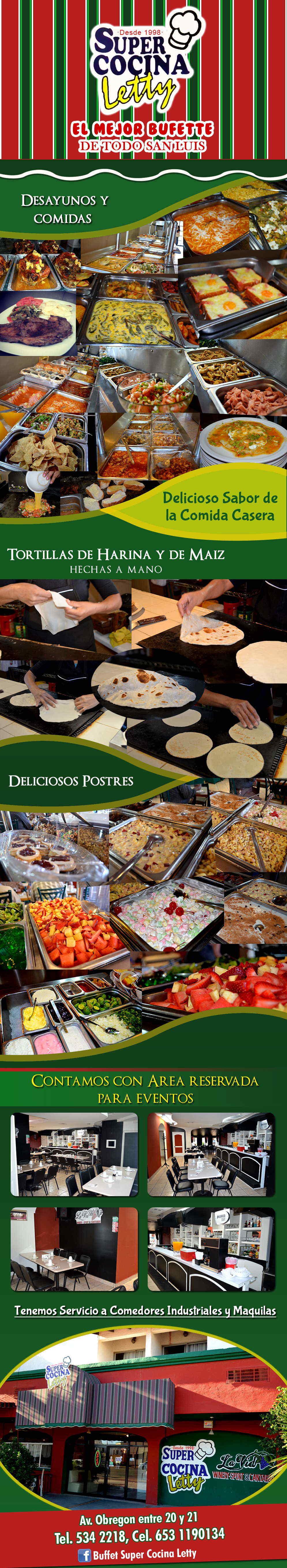 Super cocina letty en san luis rio colorado anunciado por for Comedor industrial buffet