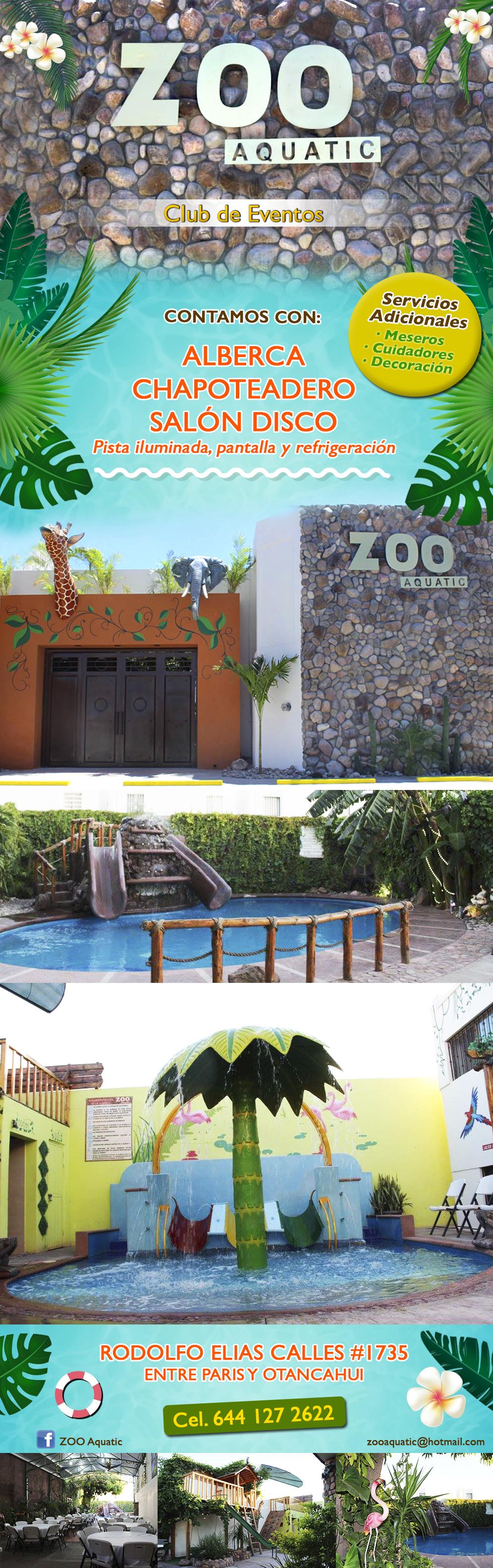 Zoo aquatic en ciudad obreg n anunciado por zonacomercial for Actividades de salon