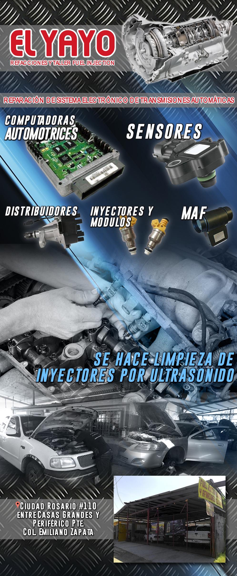 El yayo refacciones y taller fuel injection en hermosillo for Refaccionarias en hermosillo