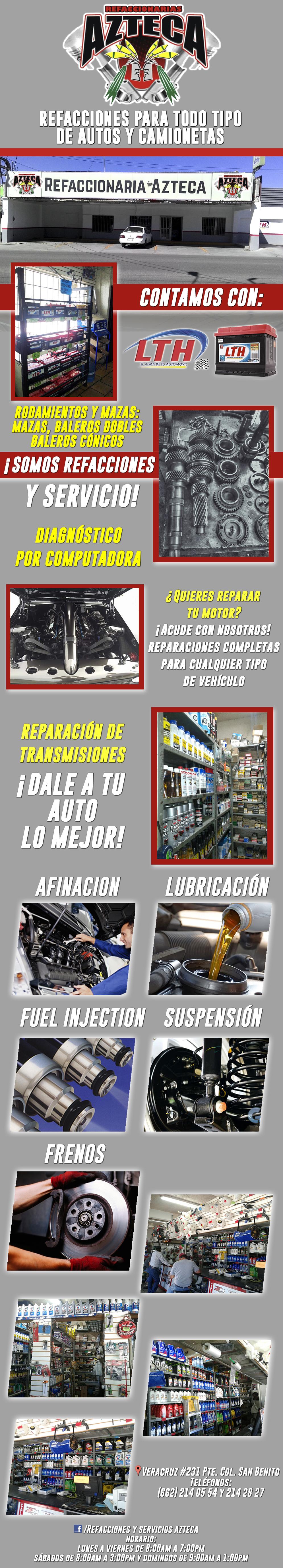 refaccionaria azteca matriz en hermosillo anunciado por