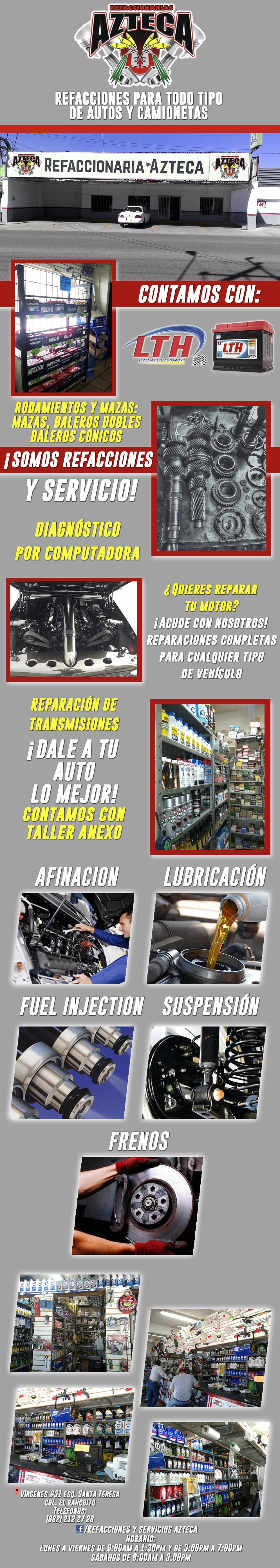 refaccionaria azteca ranchito en hermosillo anunciado por On refaccionarias en hermosillo