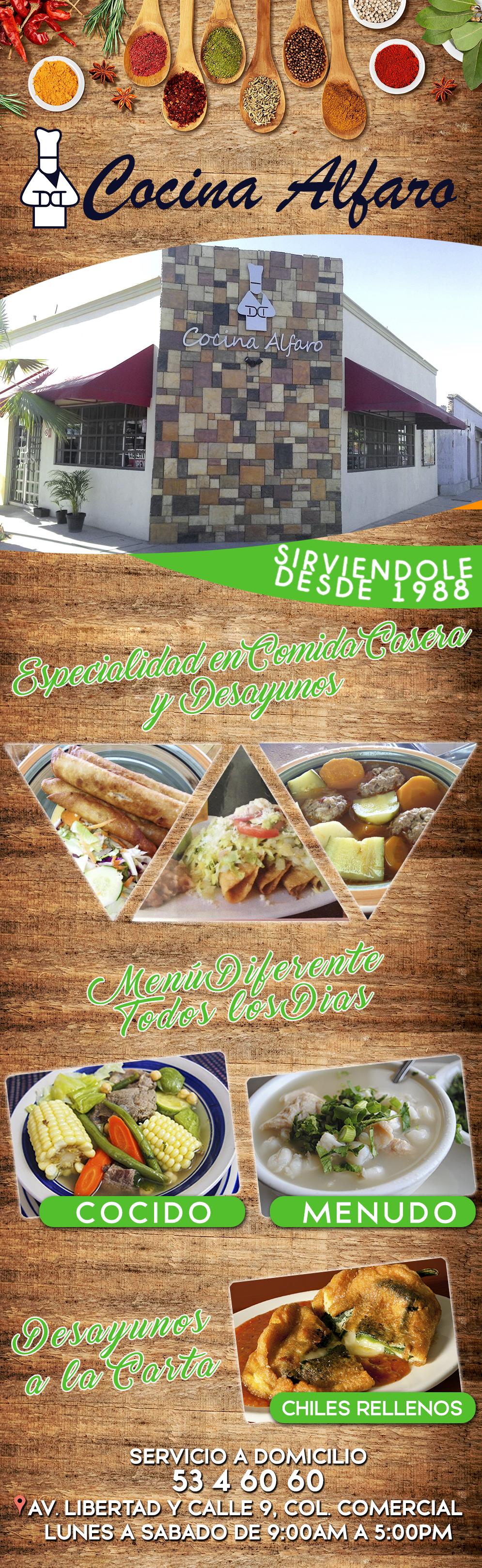 Cocina alfaro en san luis rio colorado anunciado por restaurantes y comida - Cocina casera a domicilio ...