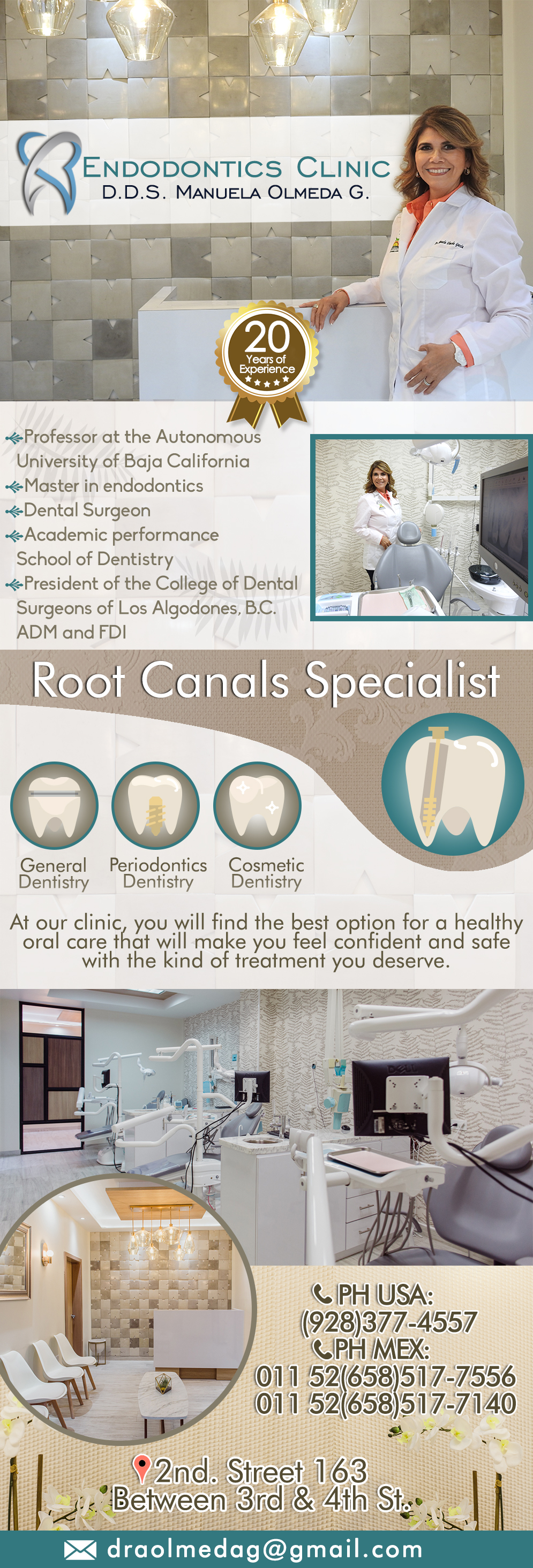 Dra. Manuela Olmeda Endodontics in Algodones  in Algodones  Endodontics Root Canal Treatment.          endodontics root canal treatments dra manuela dds olmeda endodontic  tratamiento dental dds. d.d.s.