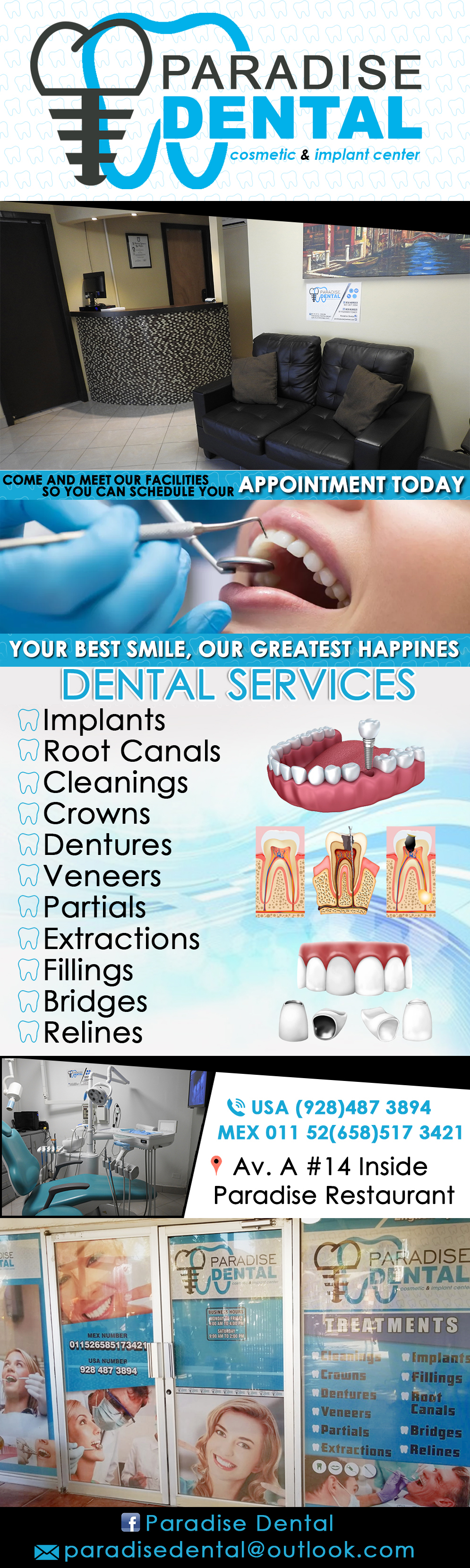 Paradise Dental Cosmetic & Implant Center in Algodones  in Algodones  ENGLISH SPOKEN