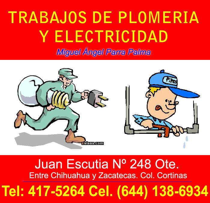 Trabajos de plomeria y electricidad en ciudad obreg n for Trabajo de electricista en malaga