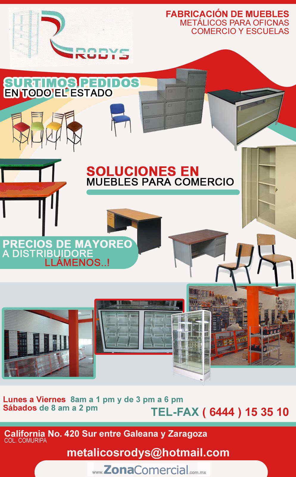 Metalicos economicos rodys en ciudad obreg n anunciado por for Muebles para oficina economicos
