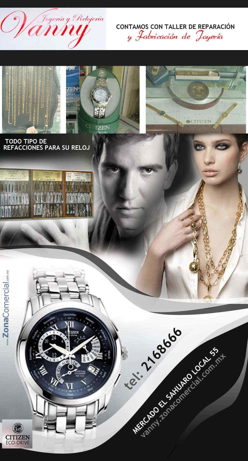 Joyeria y relojeria vanny en hermosillo anunciado por for Refaccionarias en hermosillo