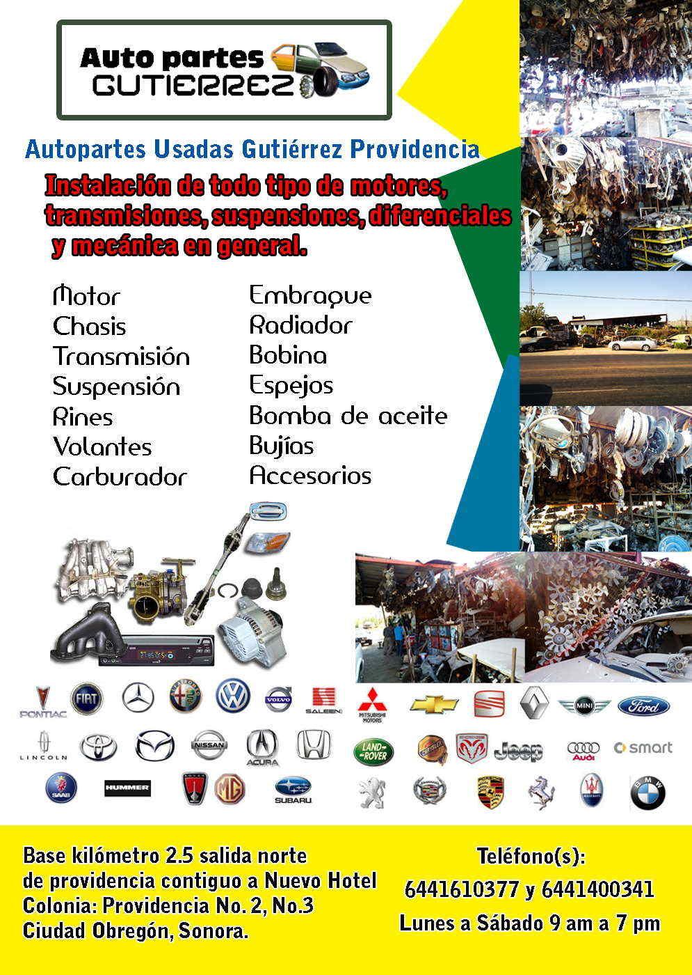 Autopartes Usadas Gutiérrez Providencia-Instalación de todo tipo de
