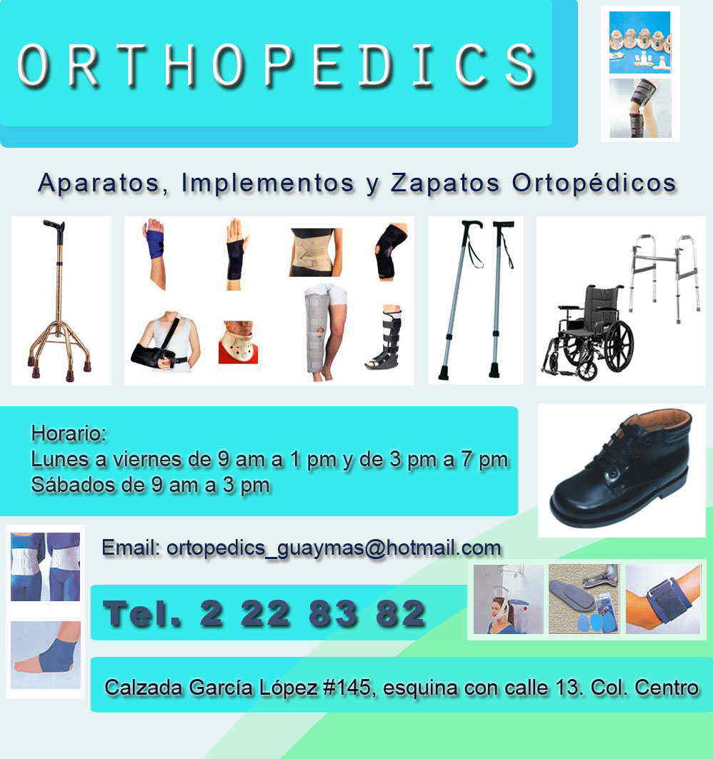 Orthopedics en guaymas anunciado por for Zapatos para sillas